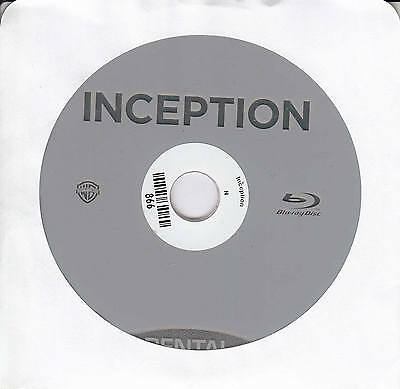 Inception (Blu-ray, 2010, Single Disc) No Cover
