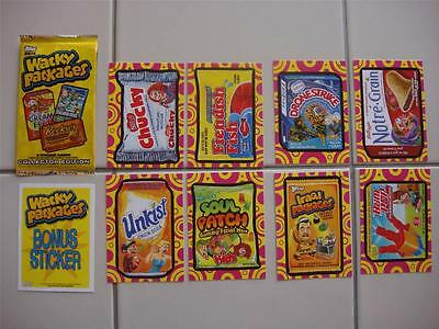 2014 Wacky Packages Series 1 (Ans 12) Set All Eight Hobby Exclusive Bonus Cards!