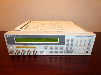 Agilent / HP 4263B 100 Hz to 100 kHz LCR Meter - CALIBRATED!