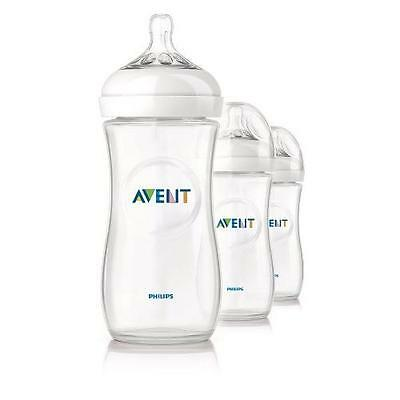 Philips Avent BPA Free Natural Polypropylene Bottle, 11 Ounce, 3-Count New