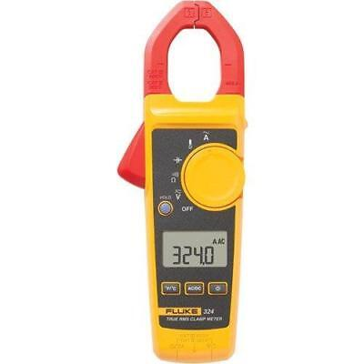 Fluke 324 40/400A AC, 600V AC/DC True-RMS Clamp Meter with Temperature, &