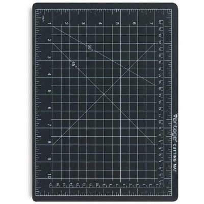 "Dahle 10671 Vantage Self-Healing Cutting Mat, 12"" x 18"", Black, 5 layer PVC"