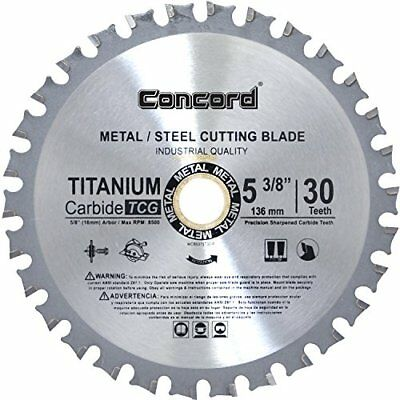 Concord Blades MCB0538T030HP 5-3/8-Inch 30 Teeth TCT Ferrous Metal Cutting New
