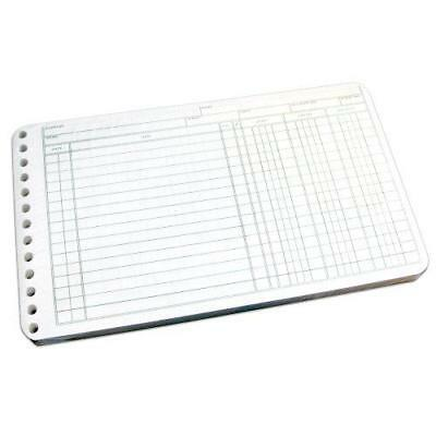 Wilson Jones Ring Ledger Sheets, 5 x 8.5 Inches, 24 Pound Paper, White, 100