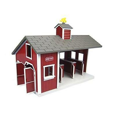 Breyer Stablemates Red Stable and Horse Set New