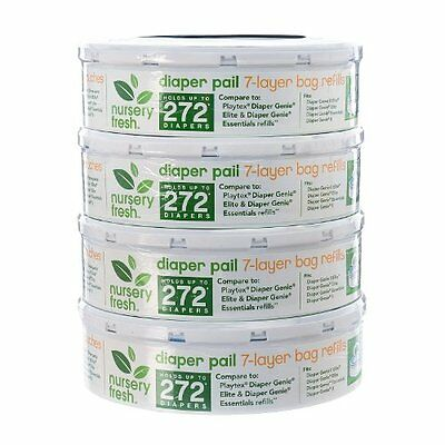 Nursery Fresh Refill for Diaper Genie and Munchkin Diaper Pails, 272 Count, 4