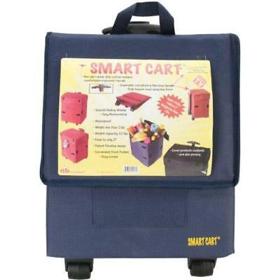 Smart Cart, BLUE  Rolling Multipurpose Collapsible Basket Cart Scrapbooking New