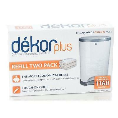 Diaper Dekor Plus Refill - 2 Pk (Discontinued by Manufacturer) New