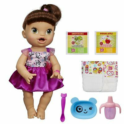 In Stock Baby Alive Snackin Lily Doll Snacks Brunette Baby