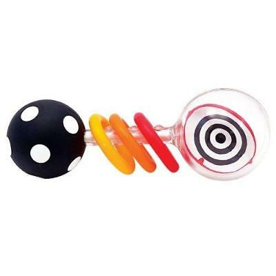 Sassy Spin Shine Rattle Developmental Toy (Colors May Vary) New