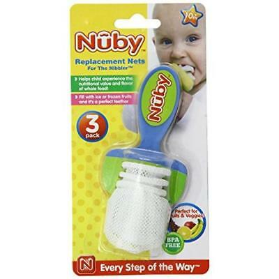 Nuby 3-Pack Nibbler Replacement Nets New