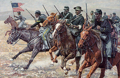 """""""The Redoubtable Sergeant"""" Don Stivers Signed Print - Emanuel Stance US Cavalry"""