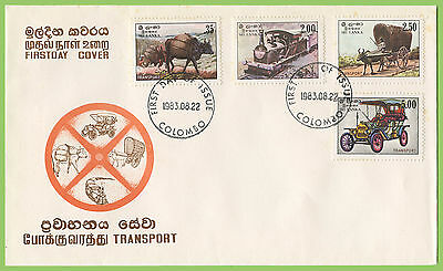 Sri Lanka 1983 Transport set First Day Cover