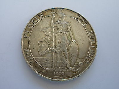1903 Edward Vii Silver Florin - Nef - Uk Post Free