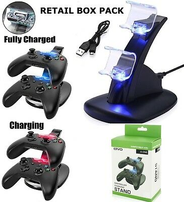 Dual Usb Charger Docking Station Charging Stand For Xbox One Controller