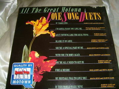 VARIOUS All The Great Motown Love Song Duets GERMAN LP