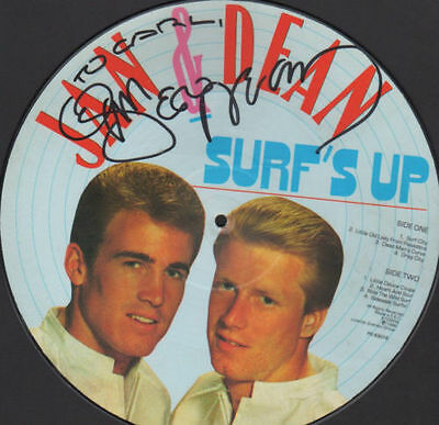 "Jan & Dean - Surf's Up 12"" Uk Limited Edition Picture Disc Autographed"