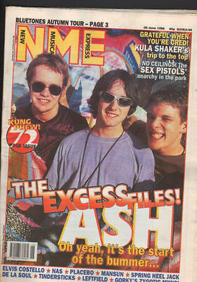 New Musical Express NME Ash Cover issue,Sex pistols,Kula Shaker 29th June 1996