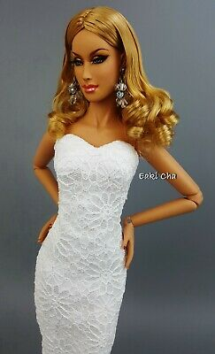 White Basic Evening Lace Dress Outfit Tyler Sydney Brenda Gene Alex Tonner Deva