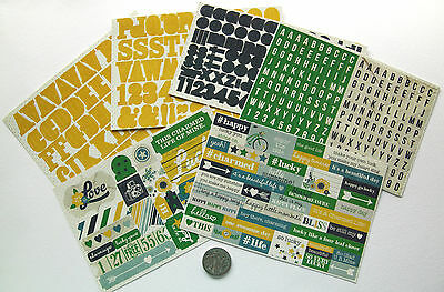 Scrapbooking No 031 - 150+ Die Cut Sayings & Alphabet Lucky Life Stickers 0