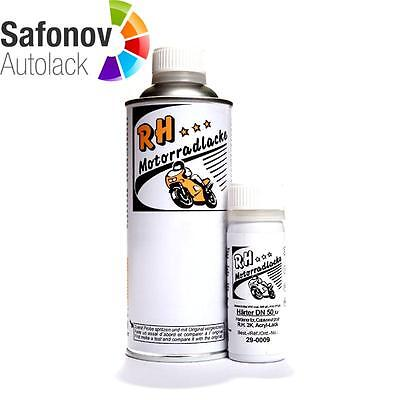 RH MOTORCYCLE PAINT 2K Engine lacquer black shiny 375 ml 21-0049/1
