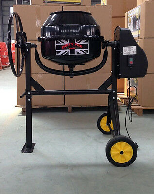 New Professional 80 Litres Concrete Cement Mixer With Stand And Wheels 240V 350W