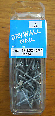 """Drywall Nails 12 - 1/2 x 1 3/8"""" Package (4 Ounces) Midwest Fastener 13050"""