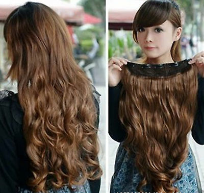 Women Lady Girls Party Costume Wavy Long Hair extension Ponytail Wig Wigs