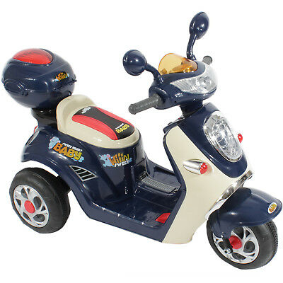 Kids Motorcycle Electric Scooter Motorbike 6v Battery Power Ride On Bike In Blue