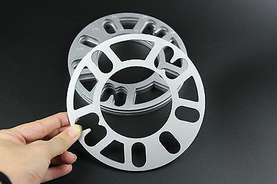 4pcs 5mm Alloy Wheel Spacers Shims Universal Car Spacer 4 and 5 Stud Fit