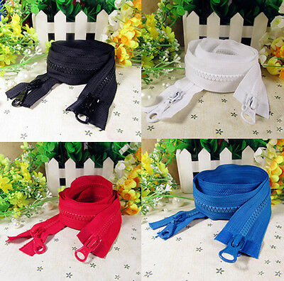 Double head Zipper for Bags or Clothing Resin 90 CM DIY 8 Colors Top