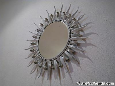 ESPEJO SOL  SUNBURST MIRROR de  METAL decoracion vintage & retro