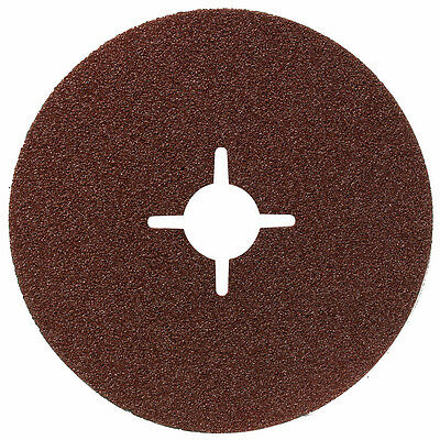 """115mm (4.1/2"""") FIBRE SANDING DISCS FOR ANGLE GRINDERS (All Grits) - Packs of 10"""