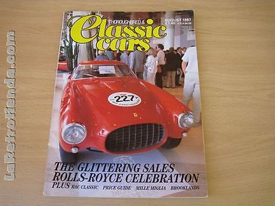REVISTA THOROUGHBRED & CLASSICS CARS August 1987
