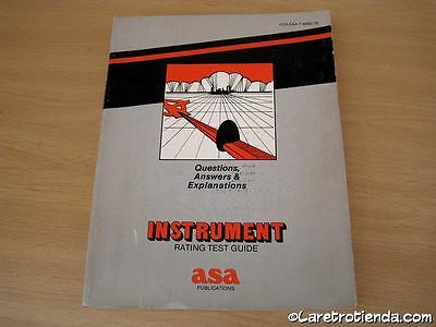 MANUAL AVIACION - INSTRUMENT RATING TEST GUIDE , año 1988