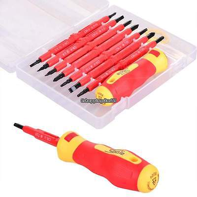 Standard 7pcs Electrician's Insulated Electrical Hand Screwdrive Tool Accessory