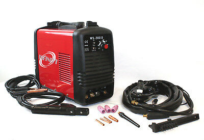 220V DC Inverter 200 amp Argon Gas TIG & ARC STICK MMA Welding Steel Welder