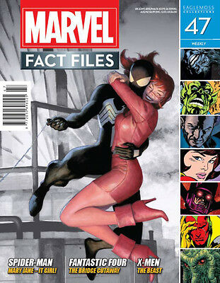 Revista Enciclopedia Marvel Fact Files Magazine Nº 47 Spiderman &mary Jane Cover
