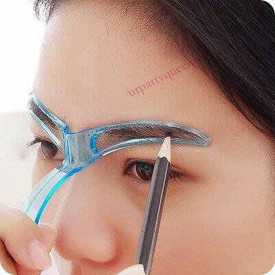 Eyebrow Stencils Shaping Grooming Brow Make Up Set Template Reusable Design