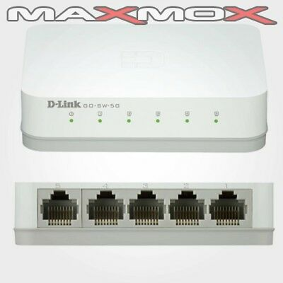 D-Link 5-Port Gigabit Mini Switch Ethernet LAN Netzwerk GO-SW-5G Desktop DLINK