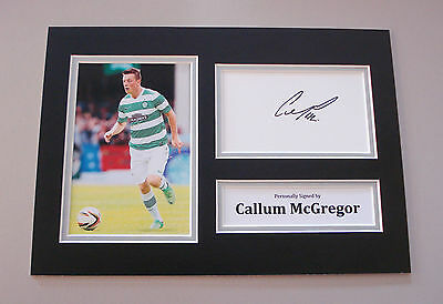 Callum McGregor Signed A4 Photo Autograph Display Glasgow Celtic Memorabilia COA