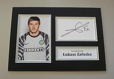 Lukasz Zaluska Signed A4 Photo Autograph Display Glasgow Celtic Memorabilia COA