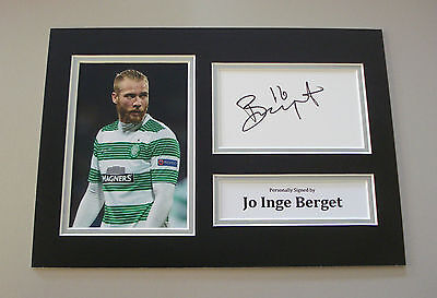 Jo Inge Berget Signed A4 Photo Autograph Display Glasgow Celtic Memorabilia +COA