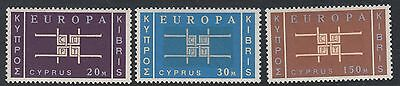 CYPRUS: 1963 Europa set   SG 234-6 never-hinged mint