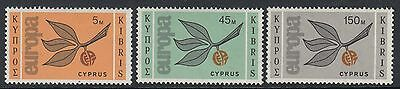CYPRUS: 1965 Europa set   SG 267-9 never-hinged mint