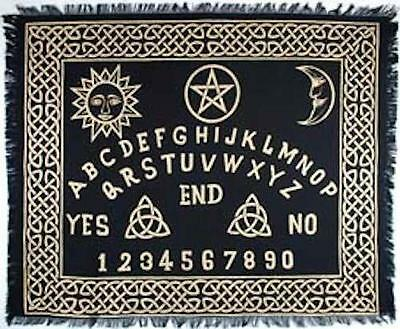 "Ouija Board Altar Cloth 24"" x 30"" in Black and Gold!"