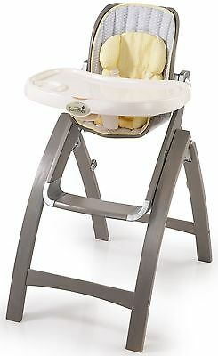 Summer Infant Bentwood Wooden Kids High Chair Chevron Leaf 22443 NEW