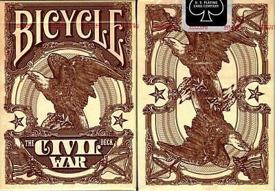 Civil War Red Deck Bicycle Playing Cards Poker Size USPCC Jackson Robinson KWP