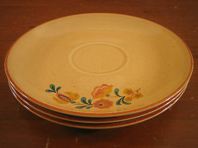 Taylor Smith Taylor TST Reveille Red Trim Rooster 3 Saucers Saucer