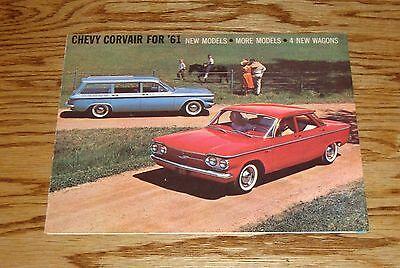 Original 1961 Chevrolet Corvair Foldout Sales Brochure 61 Chevy